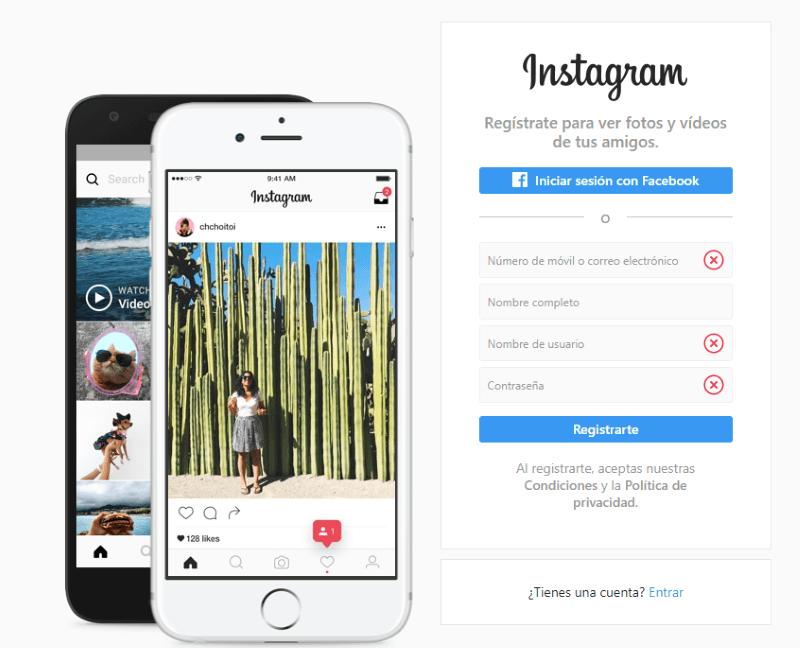 ¿Cómo crear una cuenta en Instagram desde tu ordenador o PC?