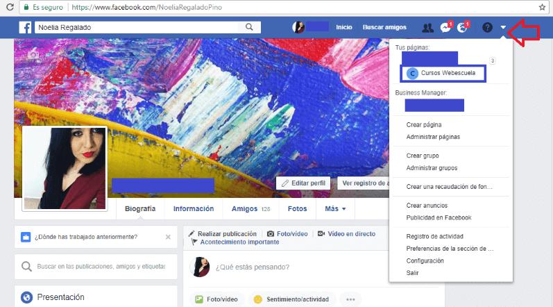 Configurar la página de Facebook