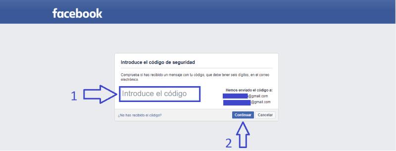 Confirmar tu cuenta de Facebook