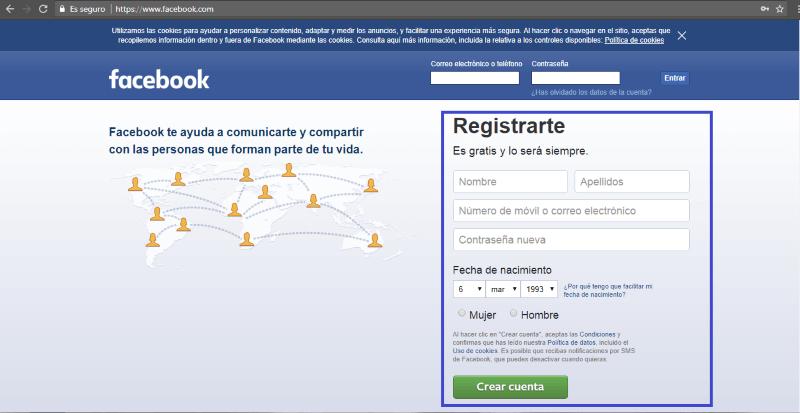 ¿Cómo crear un perfil personal en Facebook?