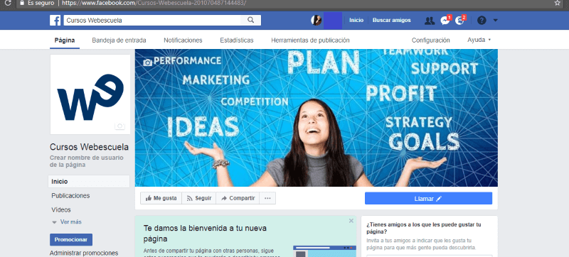 Pagina de ejemplo Cursos Webescuela
