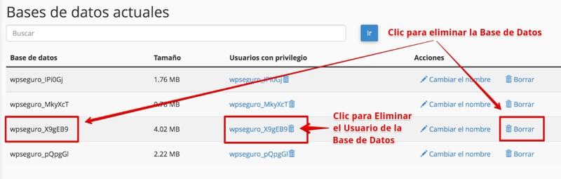 Eliminar los archivos y carpetas de WordPress