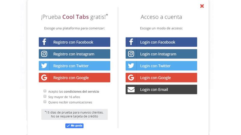 ¿Cómo crear una cuenta enCool-Tabsy empezar a utilizarla?