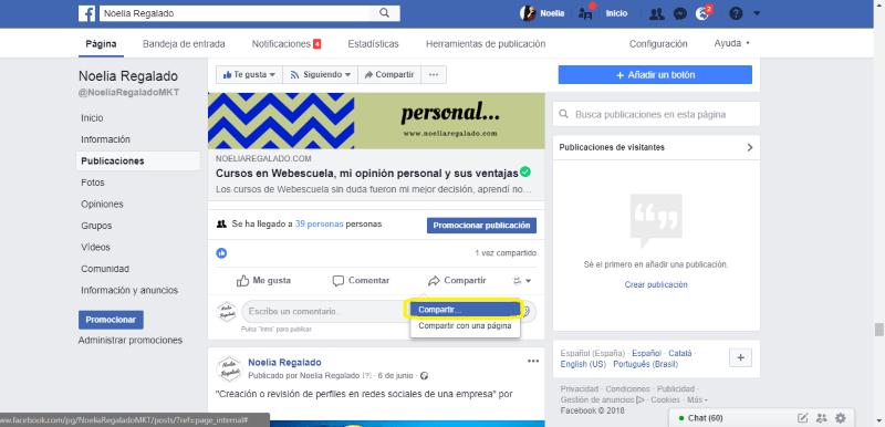 ¿Cómo puedo compartir contenido en un grupo de Facebook?