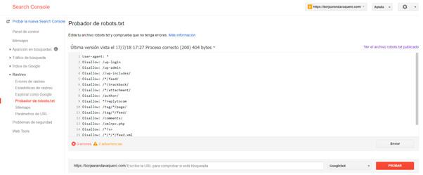 """Ejemplos de ficheros """"Robots.txt"""""""