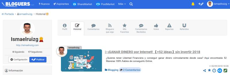 "Promocionar un blog en ""Bloguers.net"""