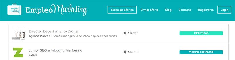 Empleo Marketing