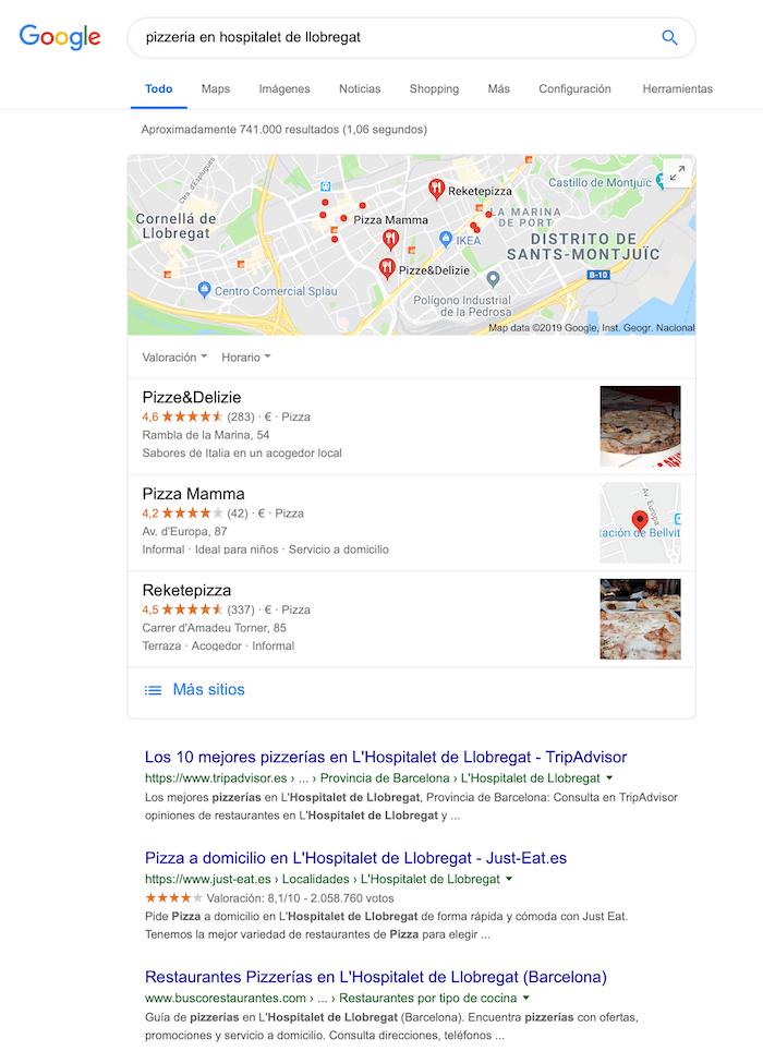 Pizzería en Hospitalet de Llobregat