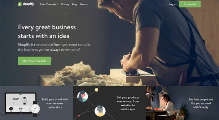 Ejemplo Landing Page de Shopify