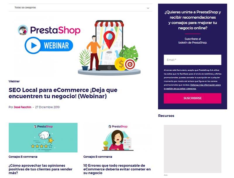 Blog de PrestaShop en español