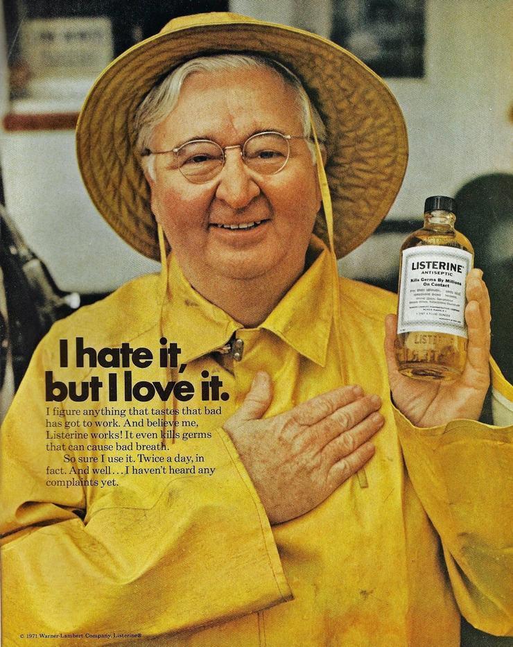 Ejemplo del anuncio de Listerine