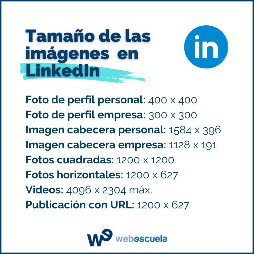 Tamaño de las imágenes para LinkedIn