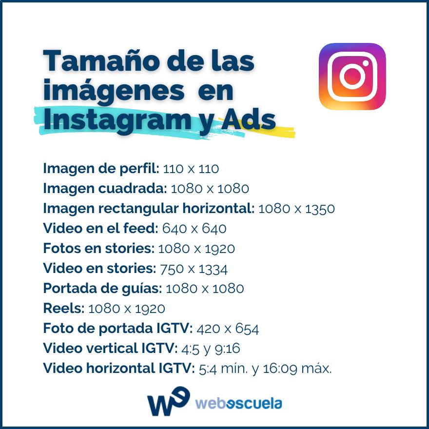 Tamaño de las imágenes para Instagram