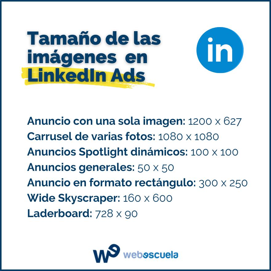 Tamaño de las imágenes para LinkedIn Ads