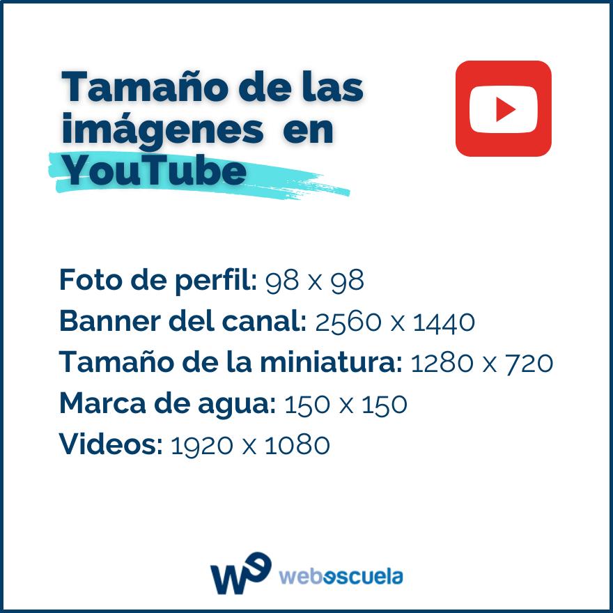 Dimensiones en YouTube