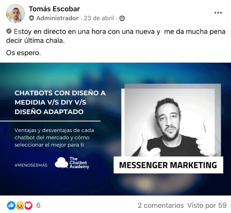 Ejemplo Taller Online Grupo de Facebook