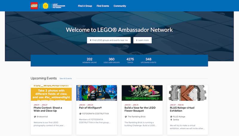Lego tiene una página para embajadores - UGC