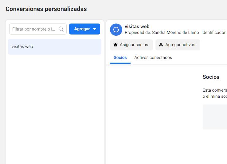 Conversiones personalizadas en Business Manager