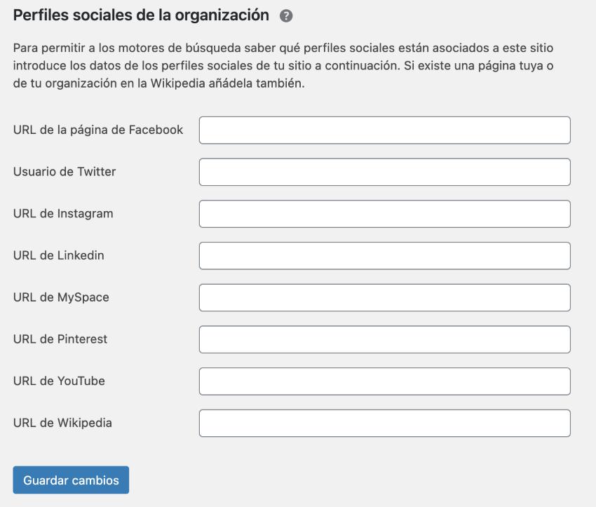 Ajustes perfiles sociales de la organización