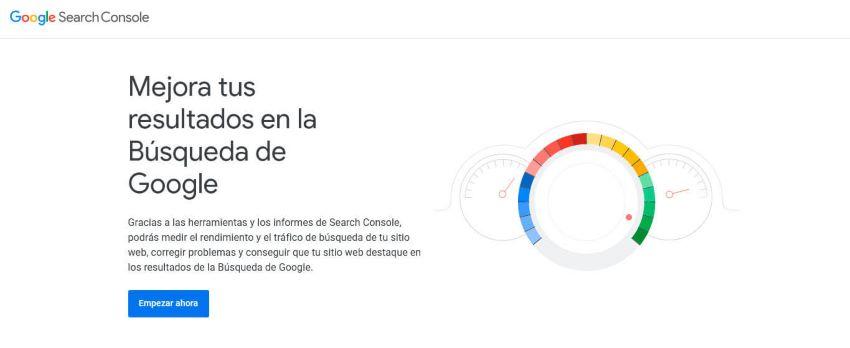 Google Search Console Inicio