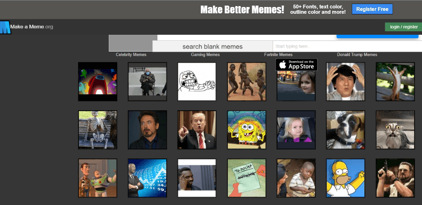 herramientas para crear memes: make a meme