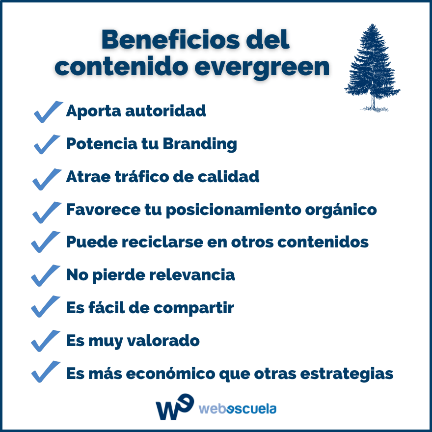 Beneficios del contenido evergreen